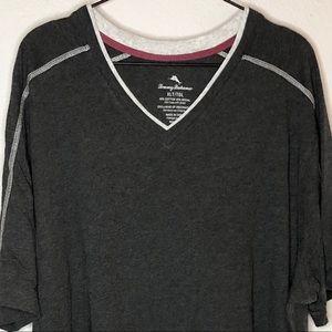 Tommy Bahama Gray V Neck T Shirt size XLT